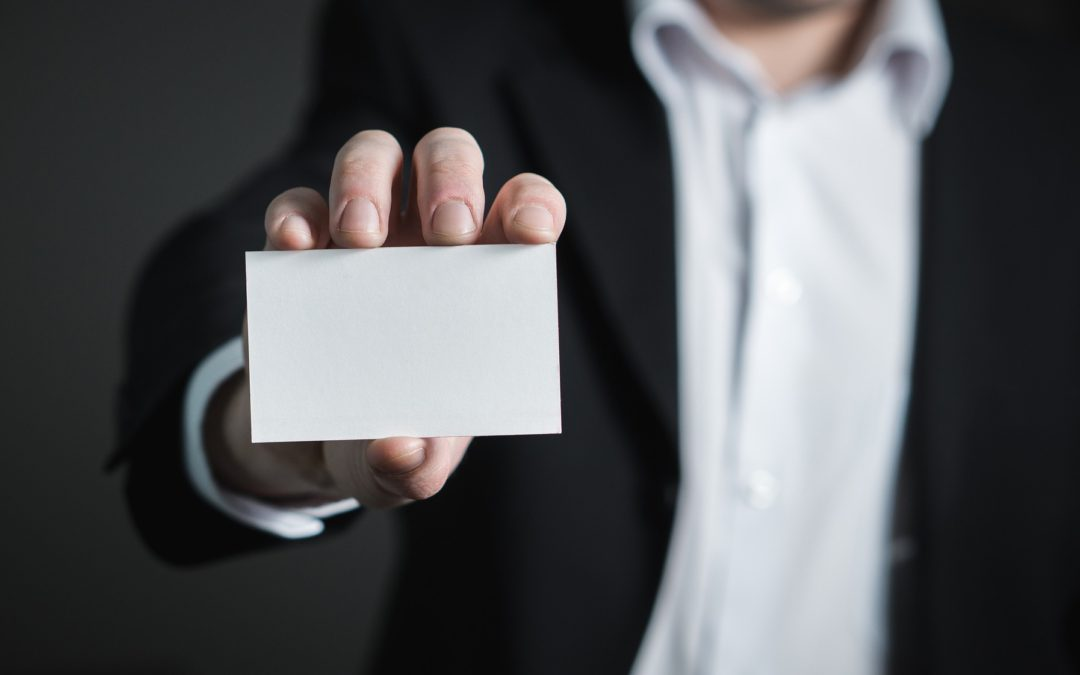 Are you hiding behind your business card?