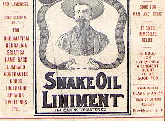 Snake oil self-help